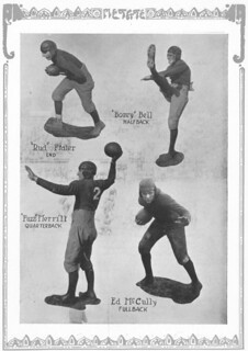 Portraits of football players from the 1925 Metate