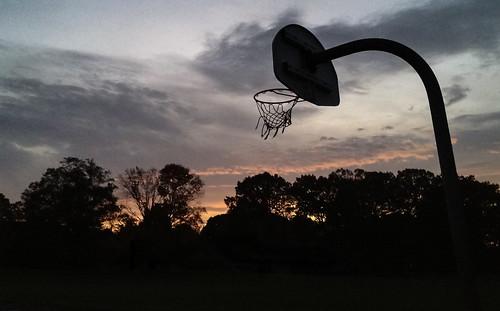 sky net silhouette basketball sunrise nj eastbrunswick iphoneography warnsdorfer