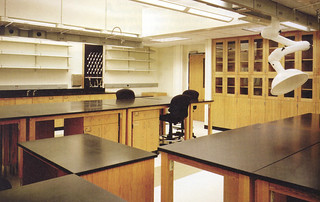 A redesigned research lab in Seaver North after it was renovated in 2001