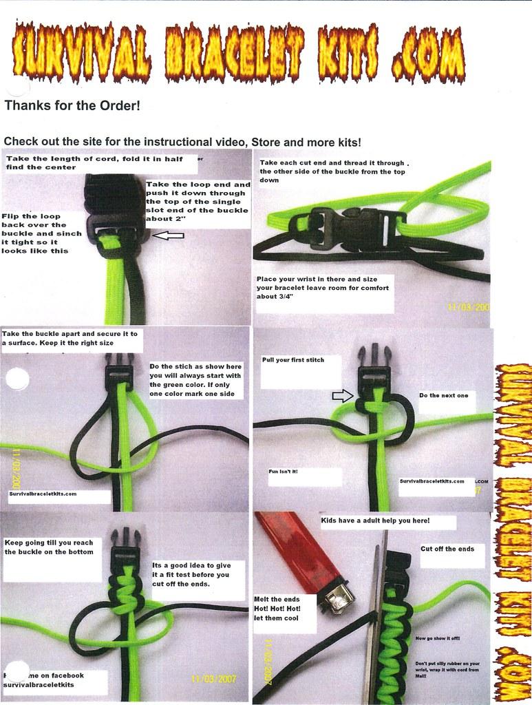 Paracord bracelet instructions buckle