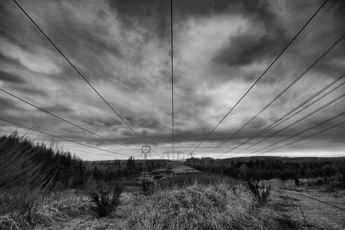 powerline power structures blackandwhite black white bw contrast electricty towers clouds horizon sky trees country canon wideangle blackdiamond vast canoneos7d tamronspaf1024mmf3545diiildaspherical washington