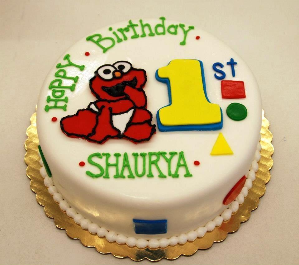 Brilliant Elmo 1St Birthday Cake A Photo On Flickriver Personalised Birthday Cards Epsylily Jamesorg