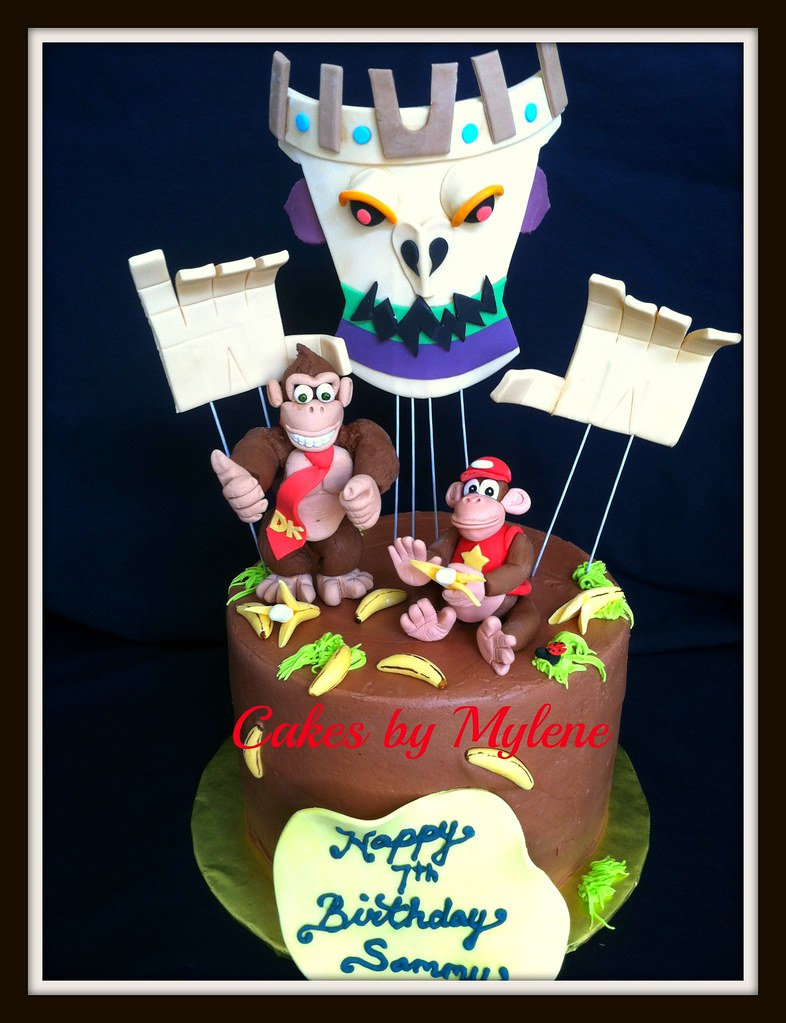 Awe Inspiring Donkey Kong Cakes By Mylene Flickr Funny Birthday Cards Online Amentibdeldamsfinfo