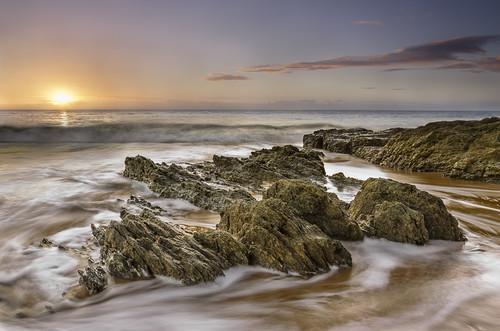 ireland sea seascape beach sunrise landscape dawn bay nikon waves wicklow brittas 1685 magherabeg d7000
