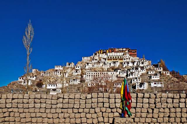 Thiksey Monastery -  A clear November  day in Ladakh