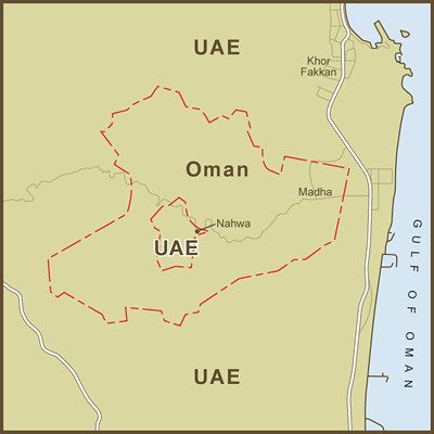 A Map of the United Arab Emirates Exclave Inside the Oman … | Flickr