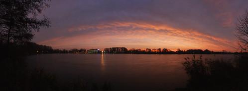 longexposure autumn sky clouds sunrise landscape dawn herbst himmel landschaft sonnenaufgang nordhorn vechtesee grafschaftbentheim pier99