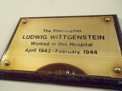 Ludwig Wittgenstein plaque - Royal Victoria Infirmary, Newcastle upon Tyne