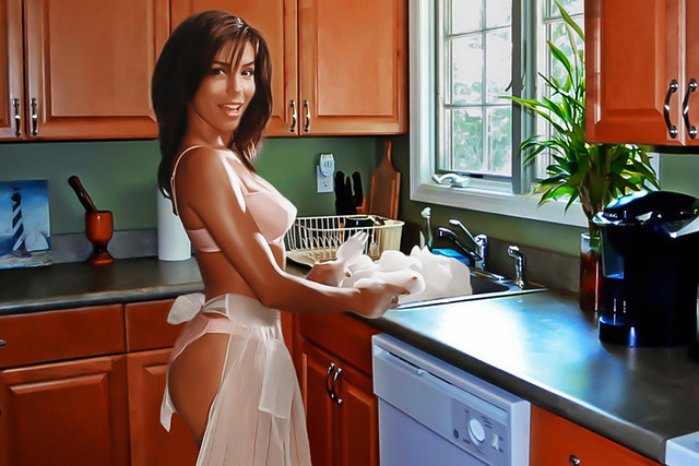 Kitchen with Eva