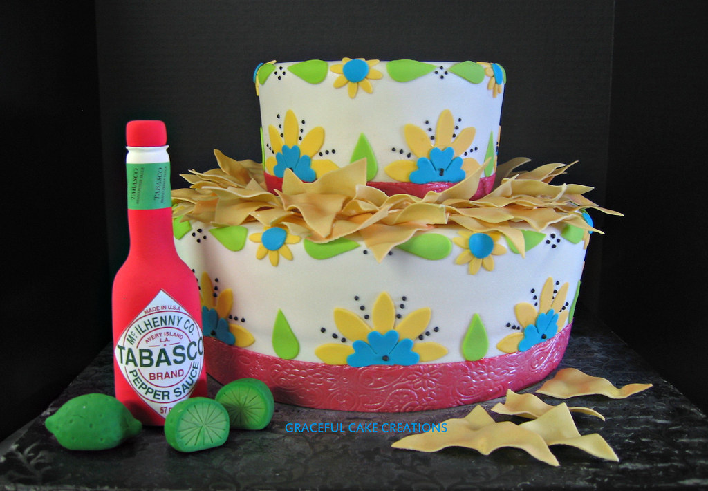 Magnificent Fiesta Chip And Dip Bowl Birthday Cake Grace Tari Flickr Personalised Birthday Cards Bromeletsinfo