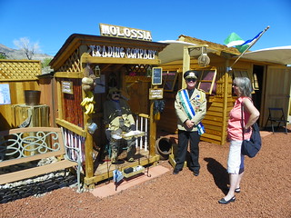 Karen and President Baugh at the Molossia Trading Company | by J. Stephen Conn