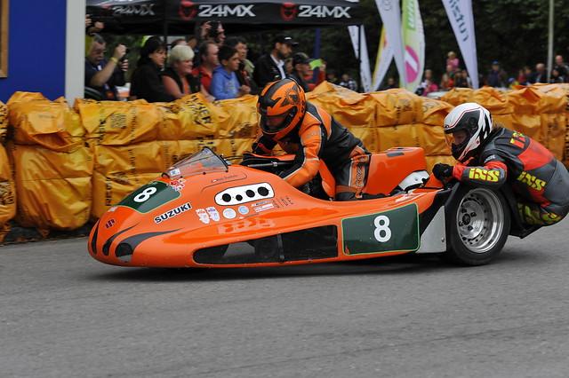 Charly Suter Michi Dirnthaler Windle-Suzuki 1000 Kneeler 1978 Oldtimer GP Schwanenstadt (c) 2016 Бернхард Эггер фото :: ru-moto images 2427