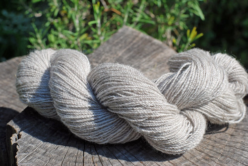 Handspun skein of 2-ply Corriedale wool by irieknit