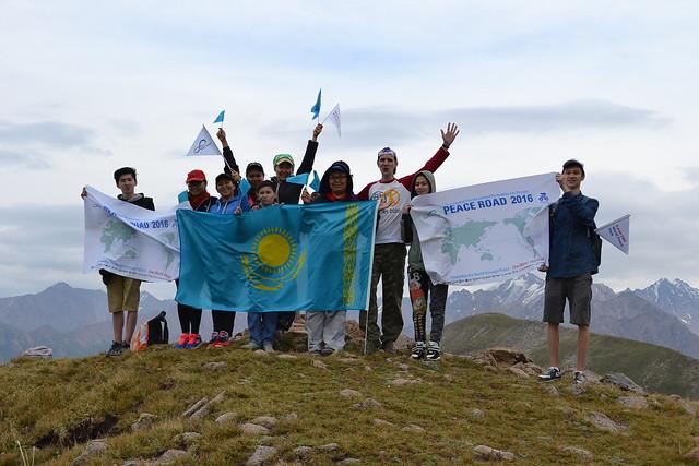 Kazakhstan-2016-08-13-Kazakhstan 'Peace Road' Climbs a Peak