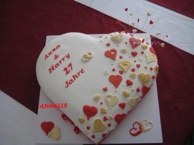 Jahrestag.Jahrestag Torte Anniversary Cake Ajusa119 Flickr