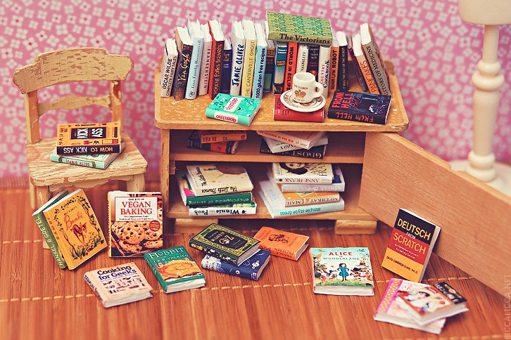 50 miniature books | Last week I was working on some props f