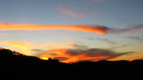 sunset clouds highlands colorful nubes wnc sunsetrock