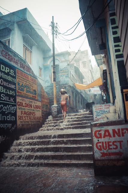 Varanasi street rain - Explored 1° ;)