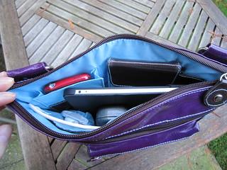 Interior - Urban Junket's Jen Powered Crossbody iPad Bag | by ~kate~