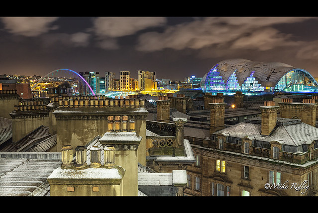 Snow capped Roof tops