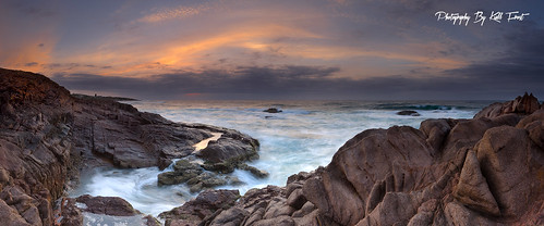 ocean sea panorama sun color colour water digital sunrise point holidays rocks stitch pano australia panoramic nsw stitched portstephens birubi kiallfrost
