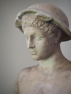 Closeup portrait of the Bateman Mercury 2nd century CE Roman copy of 4th century BCE Greek original | by mharrsch