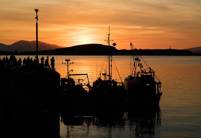 Sunset Oban Harbour