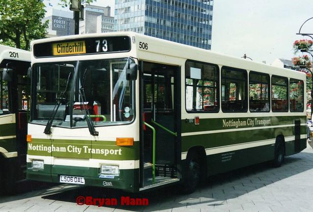 Nottingham City Transport 506, L506OAL, Volvo B6, Alexander Dash