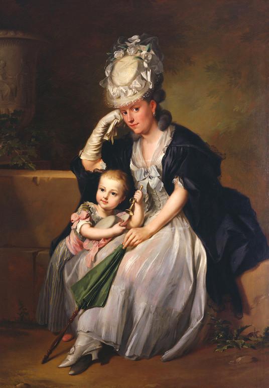 Anton Wilhelm Tischbein, Gattin des Künstlers mit Sohn - The Artist's wife and son