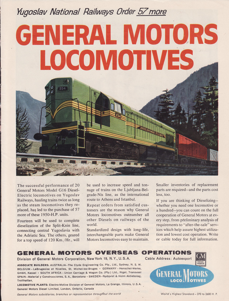 1961 General Motors Locomotive Ad - USA | Covers the 1961 Ge