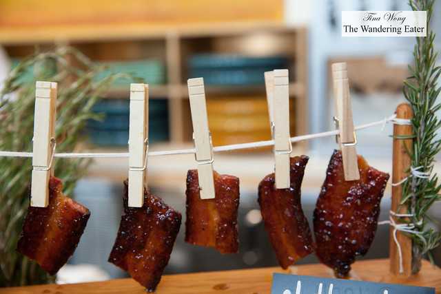 Bacon on a clothesline by Chef David Burke, BLT Prime