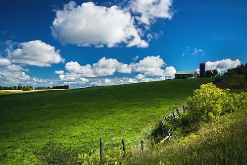 farm field hill summer clouds sky warm landscape nature light cloudy colour color windsor ontario canada ca
