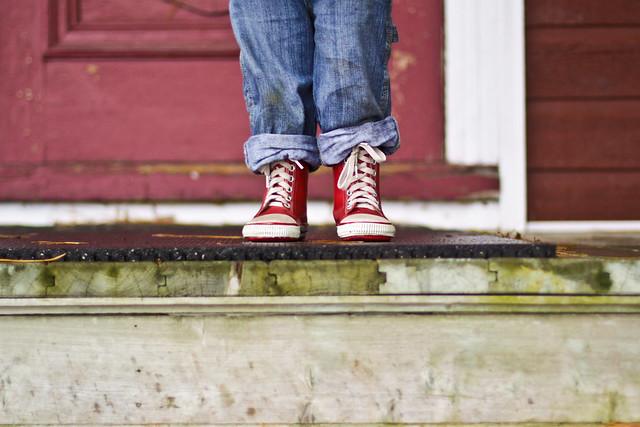 Les bottes rouges