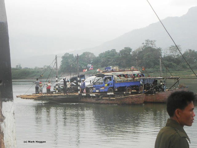 A ferry across the Mekong in Laos