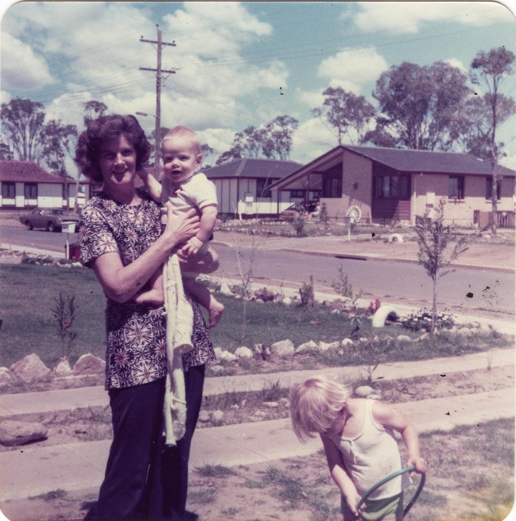 Mary Gurney holds grandson Kevin