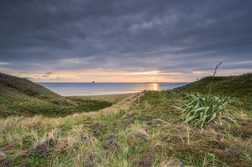 sea newzealand sky seascape clouds sunrise coast nikon wideangle nopeople nz northisland coromandel eastcoast colourimage leefilters 1024mm d7000 lee06gndhard lee12gndsoft