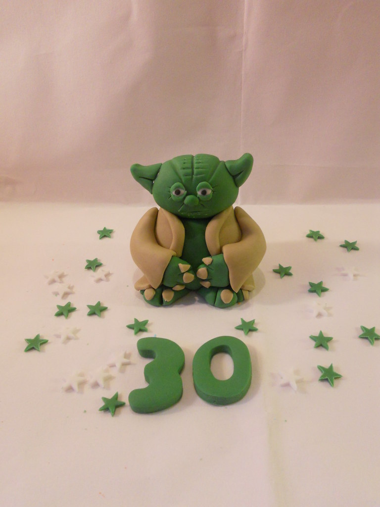 Yoda Star Wars Cake Topper Decoration Figure Birthday Flickr