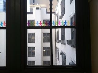 Gabby + Carol's final design project: Little people in the windows!   by jenksbyjenks