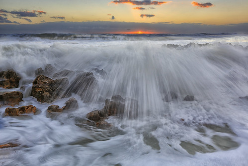 sunrise rocks florida tide splash junobeach jupiterbeach coralcove