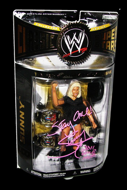 Sunny Autographed JAKKS Pacific WWE Classic Superstars ToyFare Magazine Exclusive 1 Of 100 Figure
