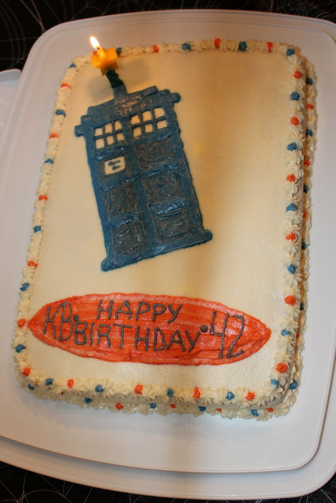 Sensational Dr Who Birthday Cake Shoelessruth Flickr Funny Birthday Cards Online Inifofree Goldxyz
