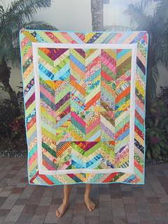 Herringbone Quilt of Many Colors!