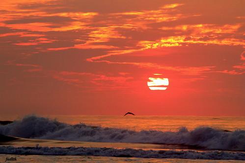 ocean sea nature sunrise newjersey waves wildwood