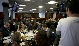 Dins les Trobades PIMEC, amb els candidats dels partits polítics a les eleccions del Parlament de Catalunya.  6 de novembre del 2012.