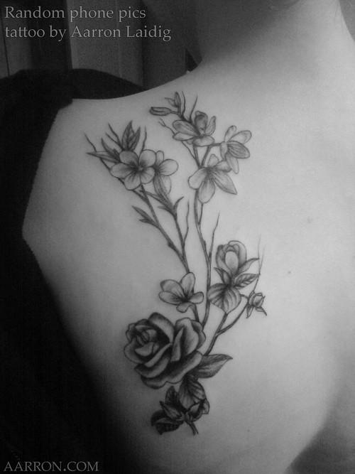 fce70a5d14565 pretty blackwork flowers tattoo | floral tattoo | Artistic Flow | Flickr