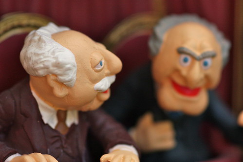 Christmas decorations - Statler and Waldorf from the Muppets   by kevin dooley