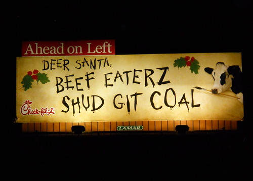 Chick-Fil-A Christmas Billboard | by peachy92