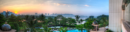 morning blue panorama orange india green pool sunrise canon print dawn handheld mumbai hdr forprint handheldhdr 5dmarkii 5d2 canon5dmarkii ianlacy ianlacyphotography