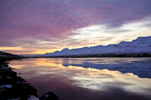 morning sky reflection clouds iceland ísland ský himinn speglun morgunn fáskrúðsfjörður faskrudsfjordur jónínaguðrúnóskarsdóttir