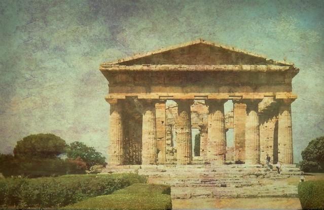 SAVE0777  Italy -Paestum -Temple of Hera- Explore